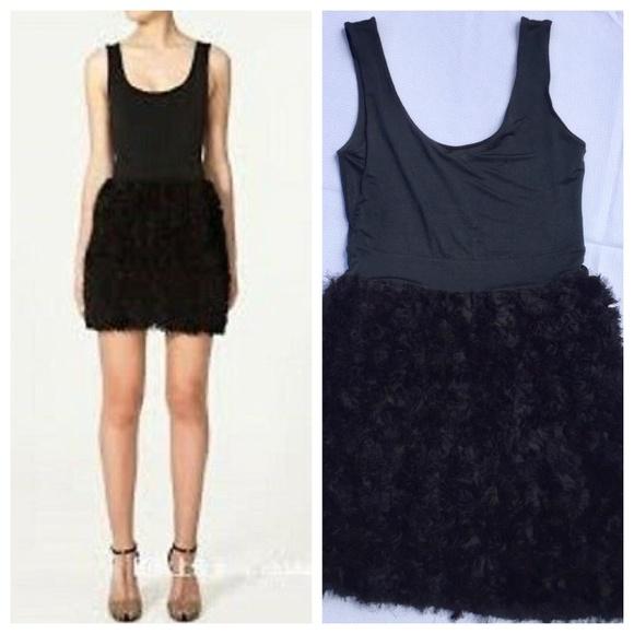 Zara Dresses & Skirts - Zara Basic Black Tulle Roses Cocktail Dress